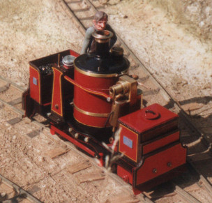 Binnie Dewinton vertical boiler model locomotive. Colin Binnie`s garden railway