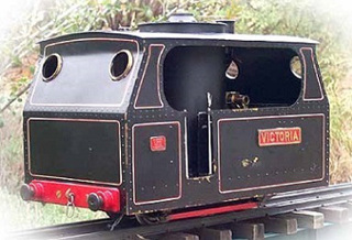 Plynlimon and Hafan railway Victoria. Model locomotive by Colin Binnie.