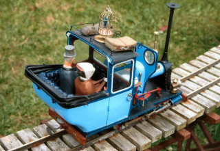 Narrow gauge garden railway model by Colin Binnie.