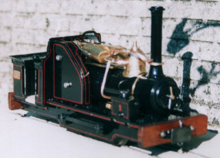 Steam Yak. Narrow gauge garden railway locomotive. Built by Colin Binnie.
