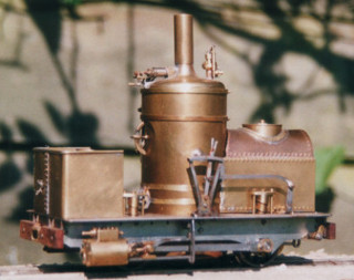 Unfinished model of Violet locomotive. Colin Binnie.